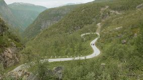 Road in the mountains. Norway stock video footage