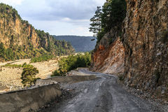 Road among Mountains Royalty Free Stock Photography