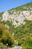 The road in the mountains of Serbia Royalty Free Stock Photo