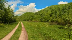 Road in the mountains, summer. Sunny summer day, road in the mountains Stock Photography