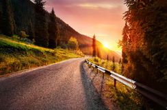 Road in the mountains Royalty Free Stock Images