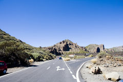Road in mountains of Tenerife Royalty Free Stock Photo