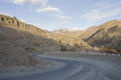 A road among mountains to Nubra valley, Leh Stock Image