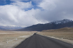 A road among mountains to Nubra valley, Leh Stock Images