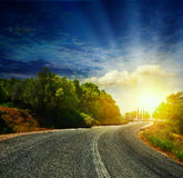 The road in the mountains Royalty Free Stock Image