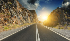 Road in the mountains Royalty Free Stock Photography