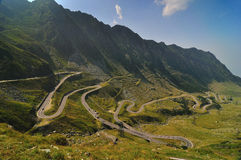 Road in the Mountains - Transfagarasan Royalty Free Stock Photography