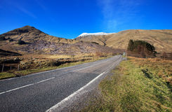Road to Loch Cluanie, Scotland, UK Stock Photo