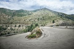 Road in the mountains Stock Photography