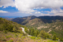 The road through the mountains Stock Photography