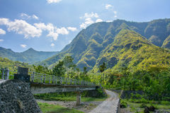 Road in the mountains of the village of Amed, Bali, Indonesia Stock Photos