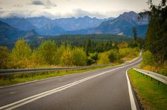 Road in mountains Stock Images