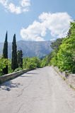 Road in mountains in Yalta Royalty Free Stock Photography