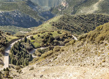Road in the mountains of Zahara Royalty Free Stock Image