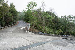 Road on moutain in Doi Mae Salong, Thailand Royalty Free Stock Photos