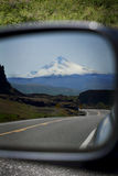 Road from Mt Hood in Rear View Mirror royalty free stock photos