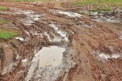Road mud, horizontal Royalty Free Stock Photo