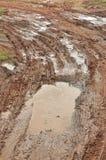 Road mud, horizontal Royalty Free Stock Image