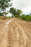 Road mud Royalty Free Stock Images