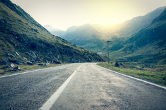 Road in muntains - Transfagarasan highway Royalty Free Stock Images