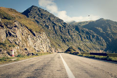 Road in muntains - Transfagarasan highway Royalty Free Stock Image