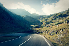 Road in muntains - Transfagarasan highway Stock Image