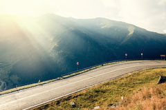 Road in muntains - Transfagarasan highway Royalty Free Stock Photography