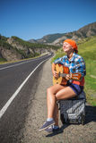 On the road with music Royalty Free Stock Photos