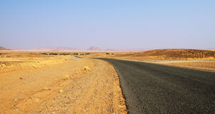 Road through Namib Stock Photography