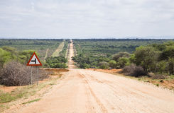 Road in Namibia Royalty Free Stock Photos