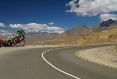 The road at Namika La,altitude 12198 Ft. in Ladakh, India Royalty Free Stock Image