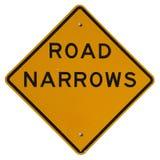Road Narrows royalty free stock photo