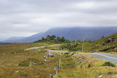 Road in the National park Connemara. Royalty Free Stock Images