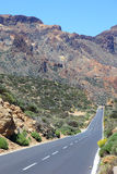 Road through national park el Teide Royalty Free Stock Images