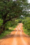 Road in National Park Yala, Sri Lanka Stock Photo