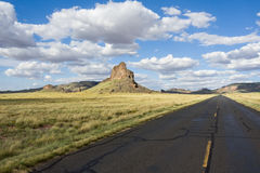 Road through the Navajo Nation. Scenic road through the Navajo Nation, Arizona Royalty Free Stock Images