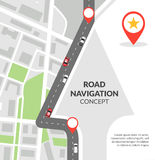 Road navigation concept Stock Photos