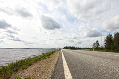 Road near bay Royalty Free Stock Image