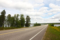Road near bay Royalty Free Stock Photography