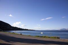 Road near a beach stock photo