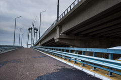 The road near the bridge Stock Photography