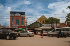 Road near the Cambodia-Thailand border Royalty Free Stock Photo