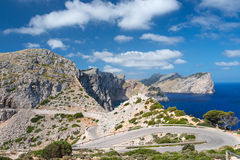 Road near cape Formentor Stock Photo