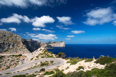 Road near cape Formentor Island Spain Stock Photography