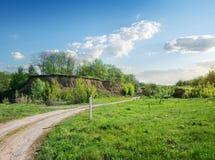 Road near clay hill stock photos