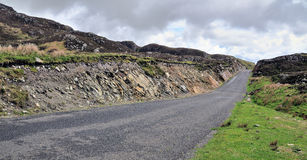 Road near Cliffs of Slieve League Royalty Free Stock Photos