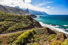 Road near coast of ocean Stock Image