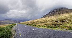 Road near the Errigal mountain. In county Donegal Ireland on a cloudy day Royalty Free Stock Photos