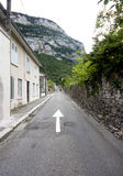 The road of near grenoble Royalty Free Stock Image
