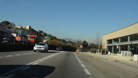 Road Near The Industrial Area stock video footage